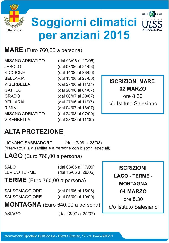 Comune di Schio - Soggiorni climatici 2015 - (MyP)