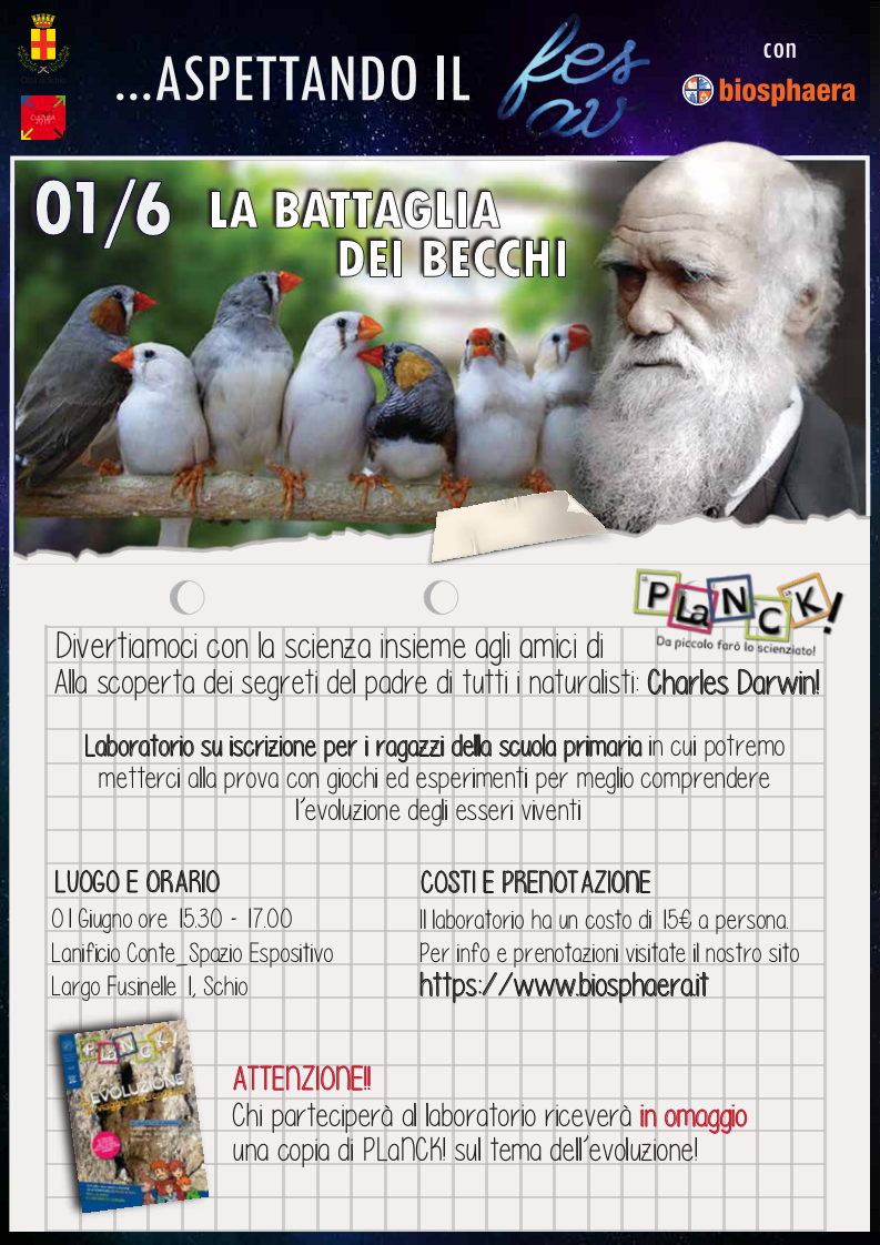 Fesav for kids - laboratori scientifici su Darwin!